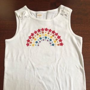 Girl's Gymboree white tank top size 8